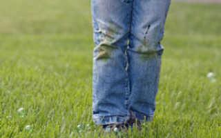 Как отстирать джинсы от травы в домашних условиях: способы и средства для удаления пятен со светлой и темной джинсовой