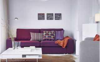 Как использовать фиолетовый диван в интерьере